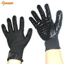 VOVOPET Gentle Pet Deshedding Glove Dog Cat Bath Cleaning Massage Pets Grooming Glove Brush for Cats Dogs Horses pet hair deshedding dog cat brush comb sticky hair gloves hair fur cleaning for sofa bed clothe pets dogs cats cleaning tools