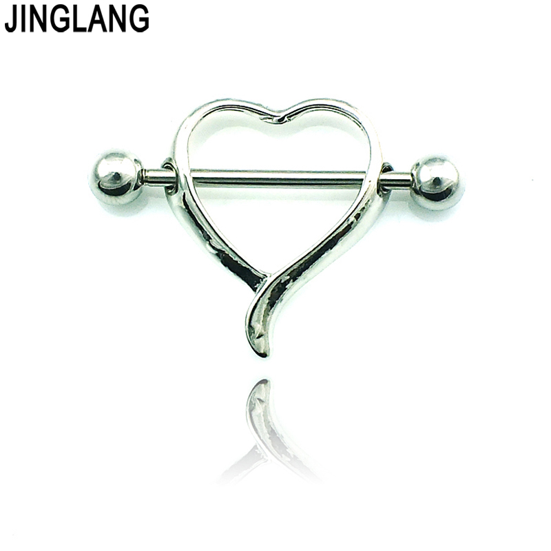 Jinglang Free Shipping Classic Nipple Rings Stainless -3273