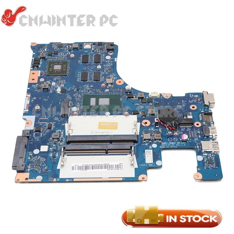 NOKOTION Para Lenovo IdeaPad I3-6100U 300-15ISK 15.6 ''laptop motherboard CPU 5B20K38221 BMWQ1 BMWQ2 NM-A481 PLACA PRINCIPAL