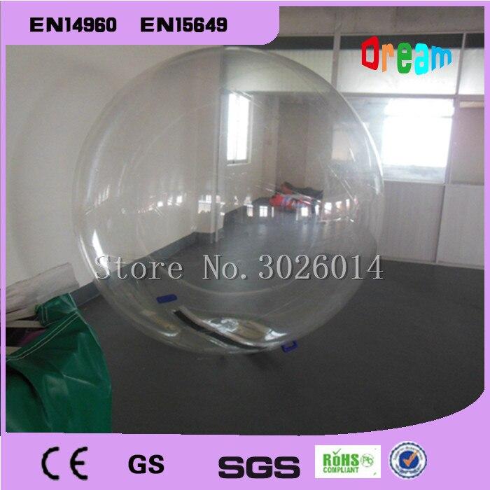 Livraison gratuite PVC Transparent marche sur boule d'eau gonflable boule de marche de l'eau, boule de Zorb pour piscine d'eau