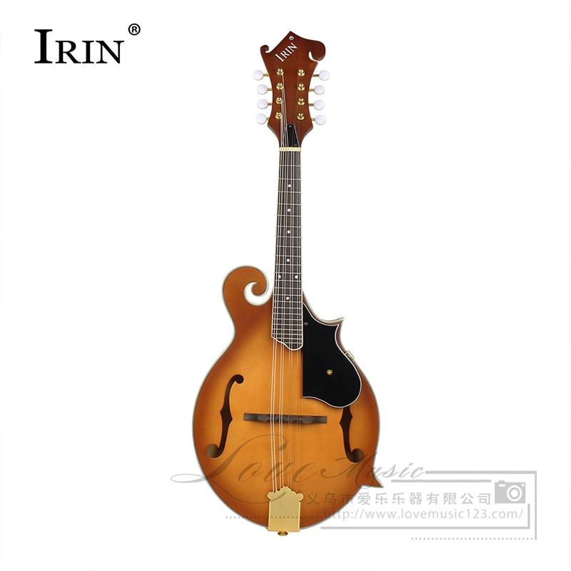 Mandoline instrument de musique national mandoline solide haut de gamme mandoline arrondie à huit cordes