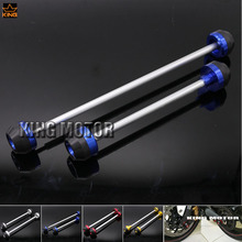 For SUZUKI GSX-S 1000 GSX-S 1000F GSX-S1000 GSXS1000 2015-2016 Front  & Rear Axle Fork Crash Sliders Wheel Protector Blue Color