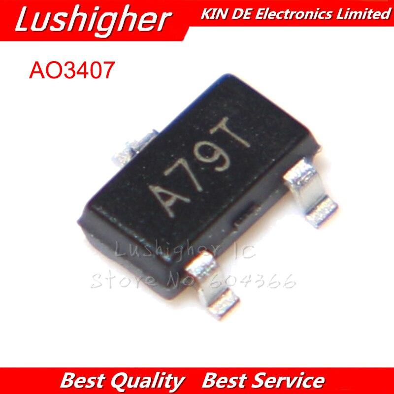 50 шт. AO3407A SOT 23 маркировка: A79T AO3407 SOT23 P Channel MOSFET Новый оригинал|mark 7|mark 5  | АлиЭкспресс