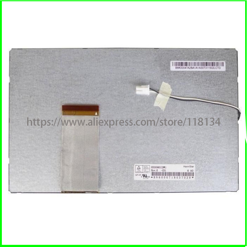 HSD080IDW1-C01 HSD080IDW1 Lcd Screen Display 192*117mm Touch Panel Digitizer