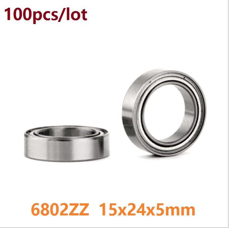 100pcs/lot <font><b>6802ZZ</b></font> 6802 ZZ 15x24x5 mm ball bearing Thin Section Deep Groove Ball Bearing 15*24*5 image
