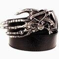 2016 Hombres Del Punk Cinturón de metal rock Cinturón Cráneo diablo Fantasma garra cinturón de hebilla de street dance hip hop accesorio Regalo de la correa para Los Hombres mujeres