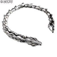 Ручной работы 925 серебряная цепь с драконом браслет тайский серебряный мужской браслет винтажный браслет из стерлингового серебра браслет