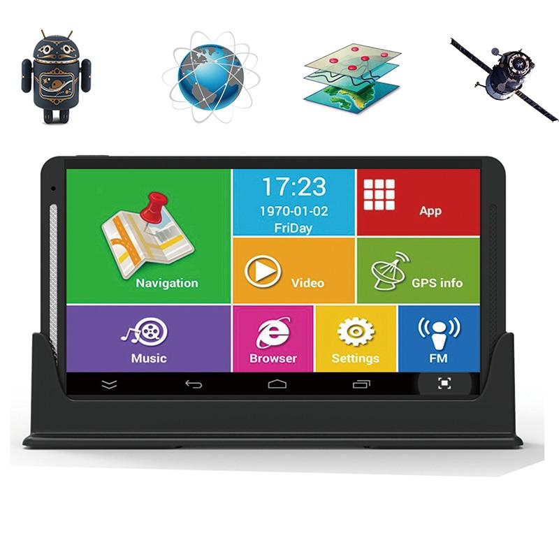 """7 """"Android GPS автомобиль грузовик навигации DVR HD Дисплей IPS емкостный Bluetooth, Wi-Fi 8 г/512 М AV в точной локализацией автомобиля DVR"""