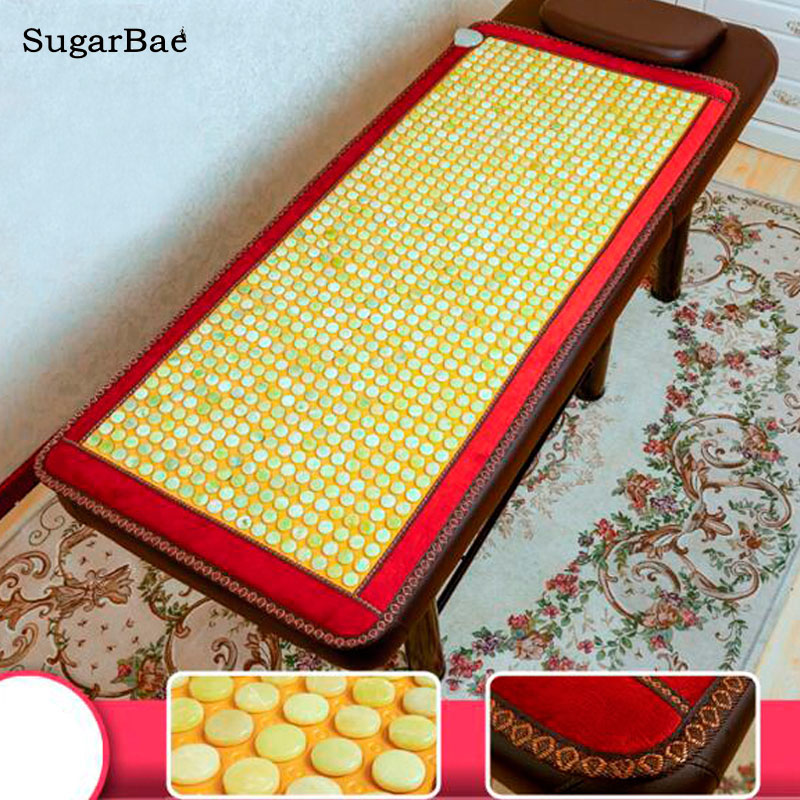 Natural Electric Yellow Heating Jade Mattress 9 Design for You Choice Free Shipping браслет jade you have about sl002 003 10mm