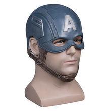 Cosplay Captain America Steven Mask Helmet Halloween Soft Cosplay Latex The Avengers Mask Mask Props