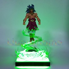 Dragon Ball Z Broly With Flying Effect DIY Led Light Lamp Base Power Up Christmas Decor Lampara