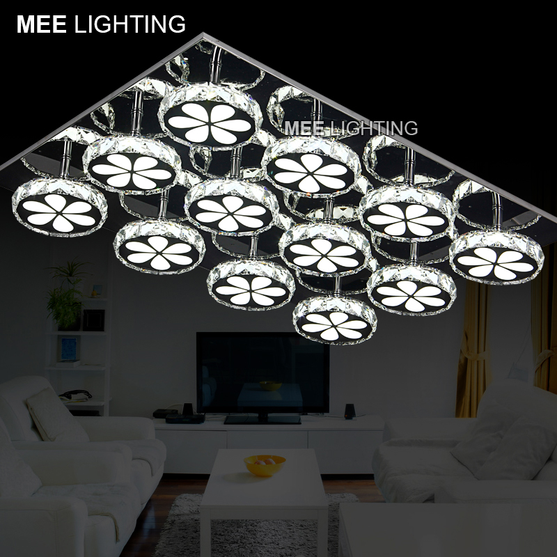 Wholesale LED Crystal Ceiling Lighting Fixture For Living Room Dining Hanging Lamp Modern Lustre