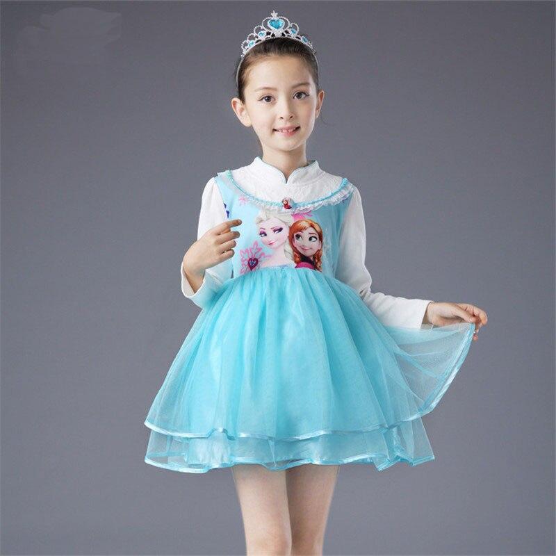 Chinese Style Kleid  Kids Girls Baby Frozen Elsa Princess Party Dress Cheongsam