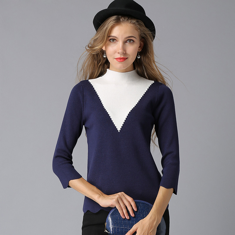 NEW High Quality Casual Christmas Knitted Women Sweaters Long Sleeve Feminino Turtleneck Solid Slim Female Pullovers and Sweater