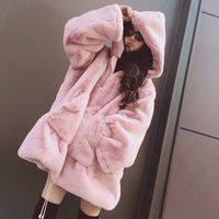 New winter warm and thickened sweater long medium loose Korean version of woolen women coat jacket