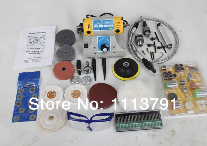Multifunctional Mini Machine Electric Grinder / Polisher / Driller / Cutterbar 350w come with 170 PCS Accessories not table saws 1pcs multifunctional mini bench lathe machine electric grinder polisher drill saw tool 350w 10000 r min