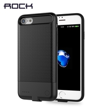 Power Case for iPhone 7 7plus, ROCK Power Bank Case For iPhone 7 7 plus 2500/3650mah Slim Light Battery Case Powerbank