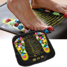 Acupressure Foot Massage Mat with color coded stones