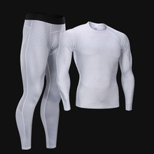 T-Shirt Men Rashguard Leggings Compression-Clothing Sport-Suit Running-Set Gym New Jiu