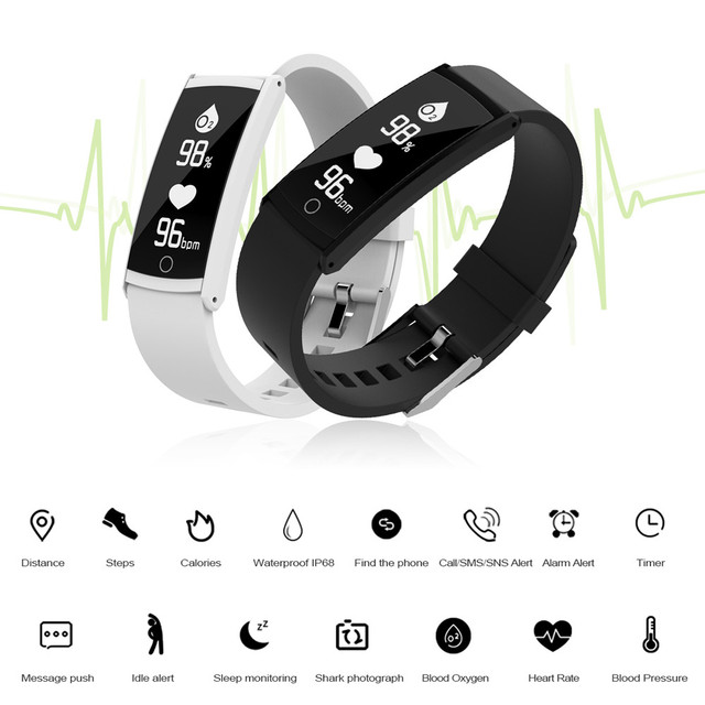 ea046000e5f2 US $19.08 29% OFF|Smart Watch Sports Fitness Activity Heart Rate Tracker  Blood Pressure Watch Apr25-in Smart Watches from Consumer Electronics on ...
