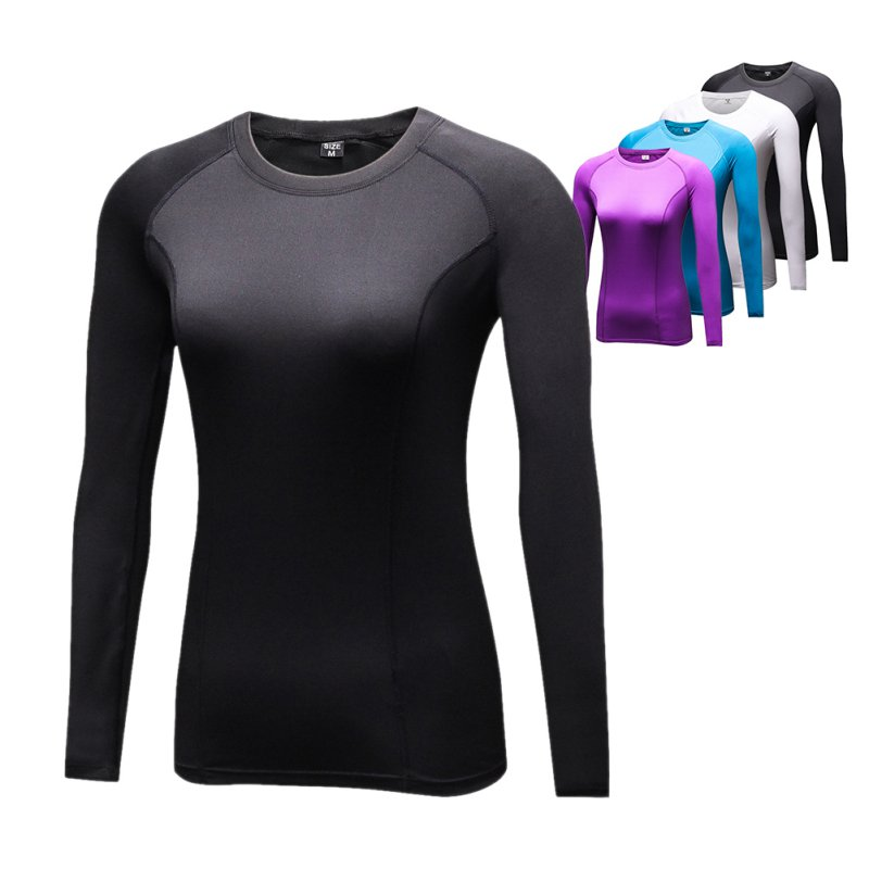 где купить Woman T shirt Compression Tights Women's T-shirt Quick Dry Long Sleeve T-shirts Fitness Women Clothes Tees & tops дешево