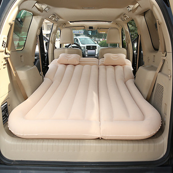 Flocking Car Inflatable Bed SUV Car Mattress Rear Row Car Travel Sleeping Pad Off-road Air Bed Camping Mat Air Mattress fast shipping new flocking inflatable car bed car grey seat cover car air mattress travel bed inflatable mattress air bed