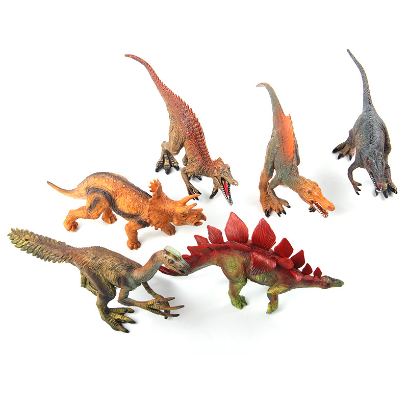 12pcs 15-18cm Simulated Solid Dinosaur Model Set Toys Tyrannosaurus pterosaur Tricerosaur