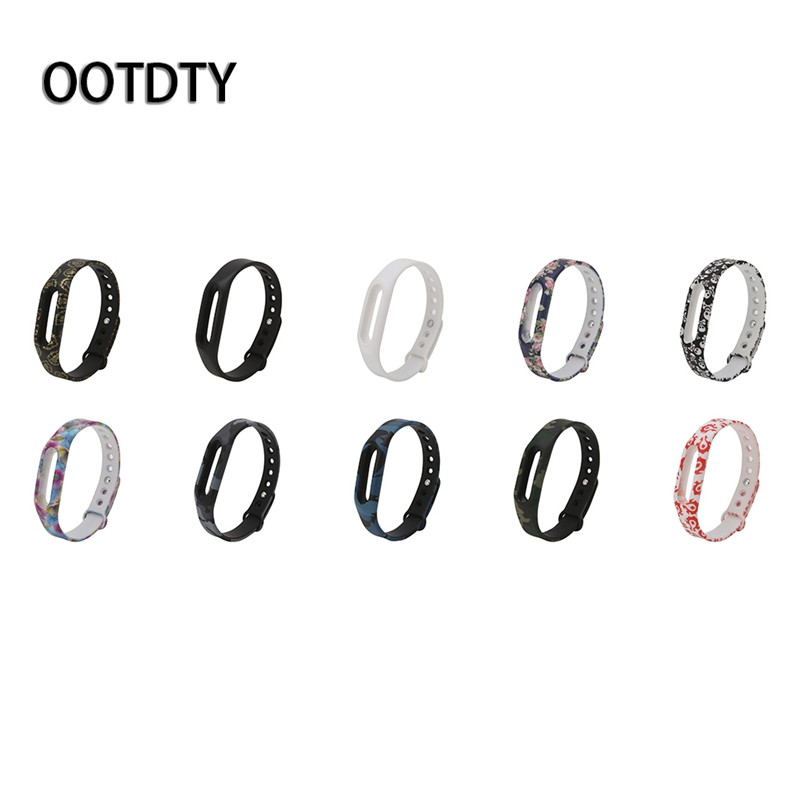 все цены на OOTDTY Smart Watch Strap Colorful Silicone Wrist Band Strap Wristband Replacement For Xiaomi Mi Band 1 онлайн