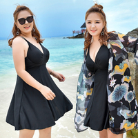 Large Size Summer Beach Push Up Swim Wear Women 2018 Newest Sexy Swimsuit Print Cover Up Beach Skirt Female 3XL 6XL Bathing Suit