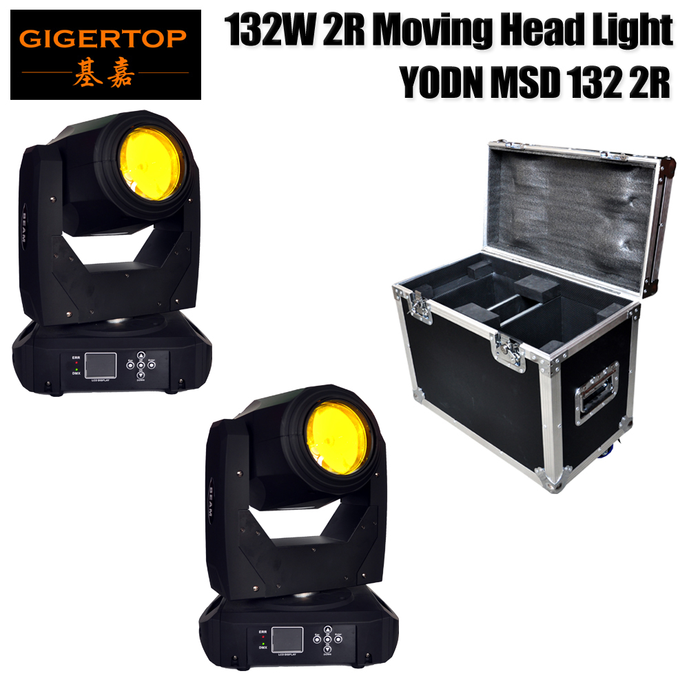 2IN1 Road Case Pack 180W Head Moving Light 15 Gobo DMX Sound Control Auto Rotating 16 / 20 Channels Rainbow 14 Color Changing