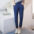 S~6XL Plus Size Women High Waist Jeans 2017  Women Pants Jean Boyfriend Jeans For Women Hot Pants Jeans