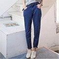 S ~ 6XL Tallas grandes Mujeres Pantalones Vaqueros de Cintura Alta 2017 de Las Mujeres Pantalones de Jean Boyfriend Jeans Para Mujeres Pantalones Vaqueros Calientes