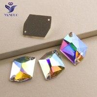 YANRUO #3265 Alle Maten AB Cosmic Naaien Stenen Crystal Flatback Strass Naaien Rhinestone Voor Jurk Decoratie