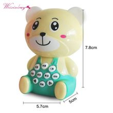 Mini Bear Tigers Children Story Early Learning Machine Puzzle Preschool Toys Science Education Baby Kids random style cheap(China)