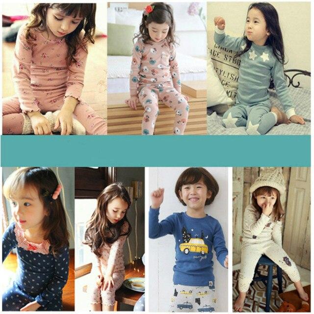 2Pcs set Kids Pijamas Infantil Children s Warm Underwear Baby Boys Girls  Pajamas Sets Winter Cartoon Clothes Sleepwear CLS091 fd06c58f7