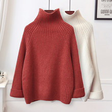 NiceMix 2019 Herbst Winter Rollkragen Jumper Gestrickte Frauen Pullover Weibliche Dame Verdicken Warm Solide Lose Pullover(China)