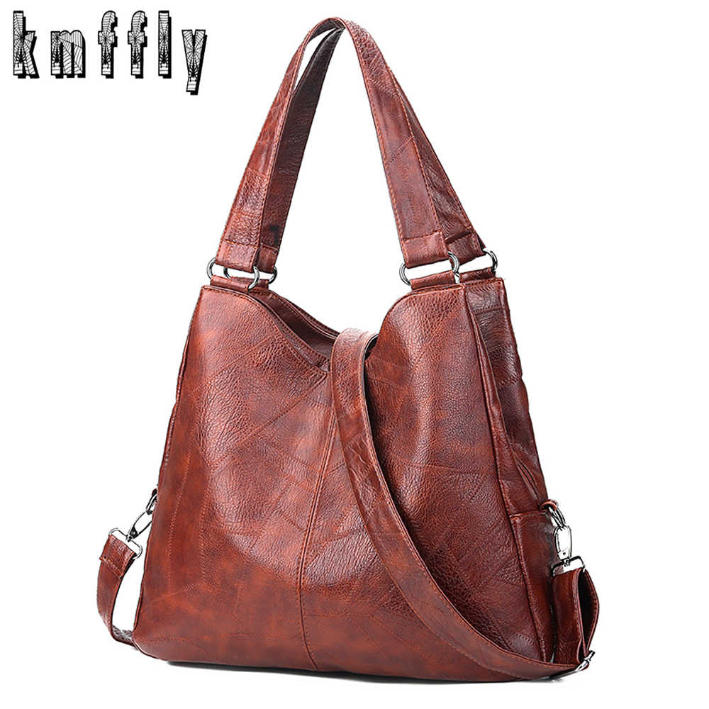 2018 Fashion Women Handbags High Quality Female Hobos Single Shoulder Bags Vintage Solid Multi-pocket Ladies Totes Bolsas