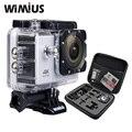 "Wimius 4 k/30fps 1080 p/60fps action camera 2.0 ""LCD Full HD Wifi Esporte Capacete Mini DV Cam DVR 40 m + Saco de Armazenamento de Viagem À Prova D' Água"