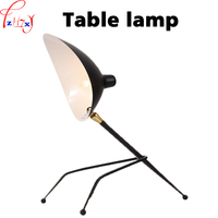 Vintage Table Reading Lamp From Iron Art Simplicity Incandescent Lamp Bedroom Office Lighting 110 220V 1PC