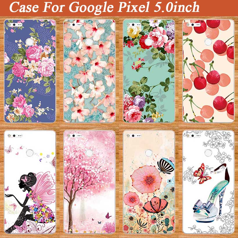 Perfect Soft Tpu Case For Google Pixel 5.0 Inches Protect Cover Various Flowers Painting TOP For GOOGLE Pixel 5'' TPU Cover Case