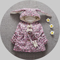 Autumn and winter new female baby Floral cardigan,Lady baby outerwear, girls jacket cotton jacket,  thickening baby coats