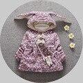 Outono e inverno novo bebê do sexo feminino cardigan Floral, Senhora outerwear bebê, jaqueta meninas jaqueta de algodão, espessamento do bebê casacos