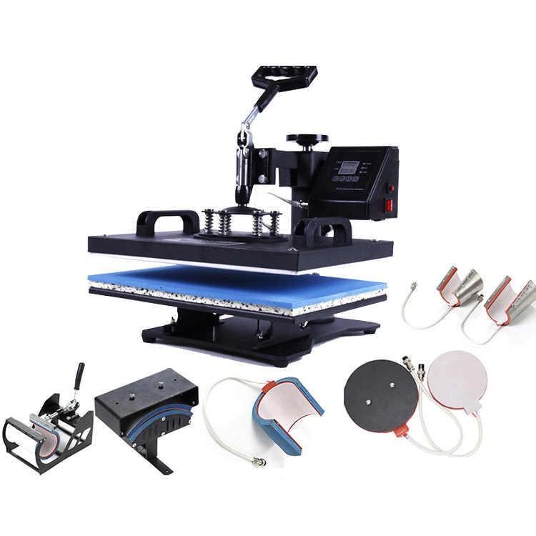30*38 CM 2D 8 em 1 Combo Imprensa do Calor Da Máquina Impressora de Sublimação de Transferência Térmica Pano Cap Caneca Placa t-shirt Da Máquina de Impressão