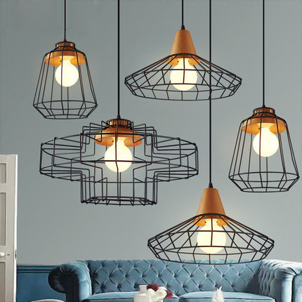 Vintage Iron Pendant Light Loft Retro Droplight Bar Cafe Bedroom Restaurant Metal Cage ith LED Bulb Hanging Lamp AC110V/220V E27 loft retro hanging lamp industrial minimalist iron pendant light bar cafe restaurant e27 lamp holder vintage lights wpl028