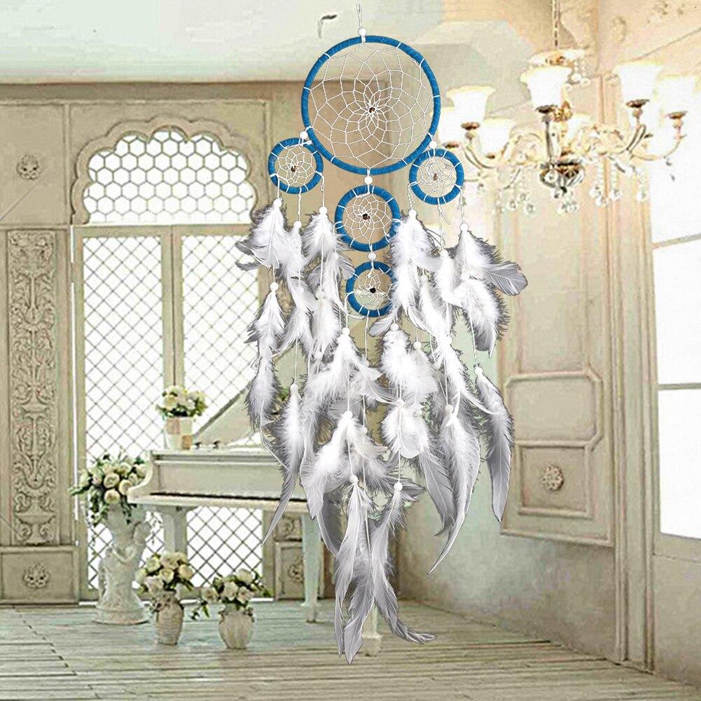 Hecho a mano Dream Catcher ornamento flecos Encaje flor coche casa ...
