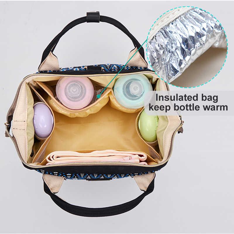 Kleine Mummie Moederschap Baby Luiertas Rugzak Voor Moeders Grijs Mode Nappy Luiertas Wandelwagen Organizer Lunch Isolatie Zakken