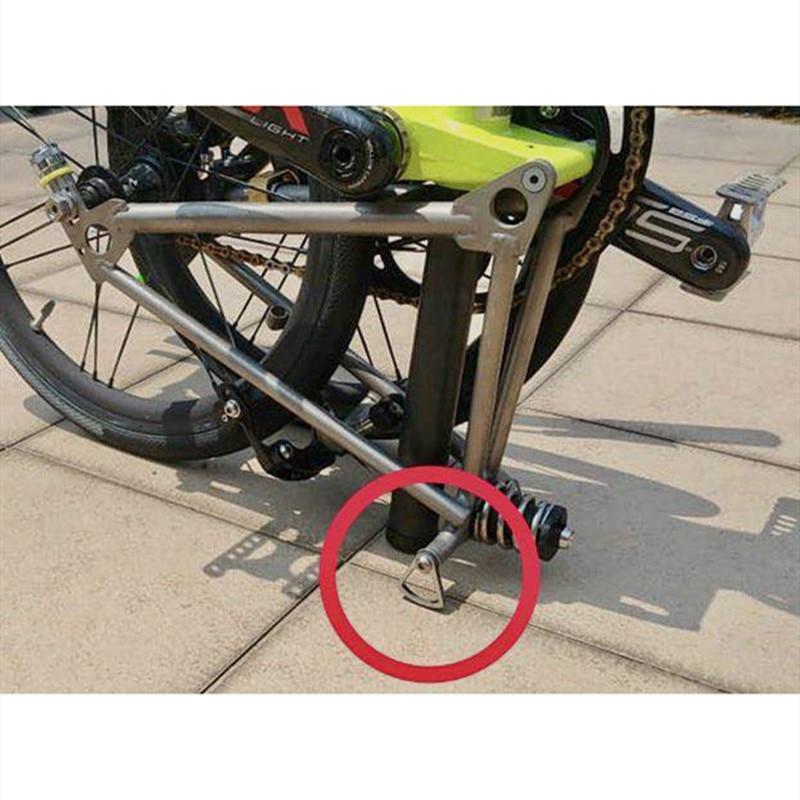 2 Size Folding Bike Titanium Kickstand Easy Wheel Replacement For Brompton Bike Frame Implementation Wheel Modification Bracket