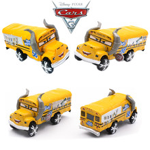 Rare New Roles Disney Pixar Cars 3 School Bus Miss Fritter Metal Alloy Model Car Toy Lightning McQueen Jackson Storm Toy Gift(China)