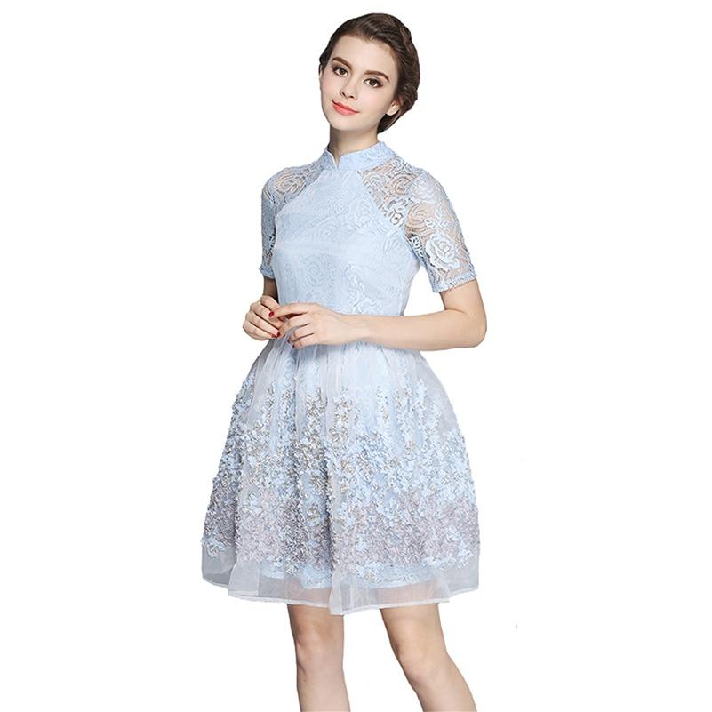 Original Unique Vintage Womens Eyelet Flirty Cotton Swing Dress