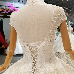 Image 3 - AIJINGYU Marriage Gown Online High Street Gowns Wear Egypt engagement White Bride Turkish Casual Dresses Royal Wedding Dress